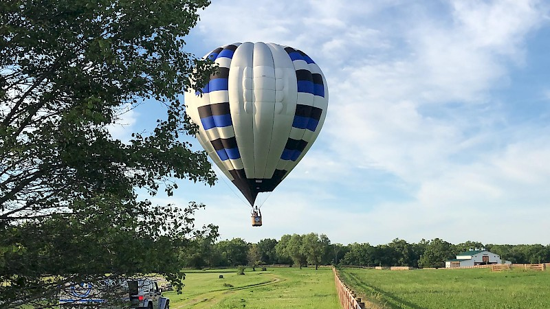 gift certificate for hot air balloon ride